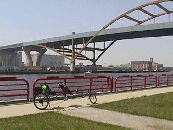 marcus amphitheater summerfest milwaukee wi. Bike parked at Milwaukee#39;s
